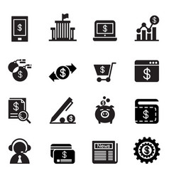 Internet banking icons vector