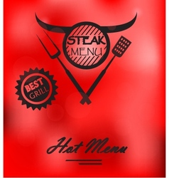 Steak menu poster vector