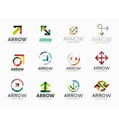Collection of arrow company logos vector