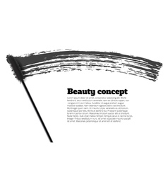 Mascara brush stroke beauty background vector