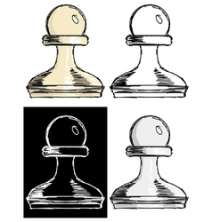 chess pawn vector image