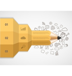 modern pencil infographic vector image