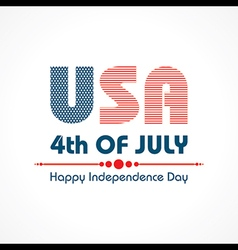 Stylish american independence day greeting vector
