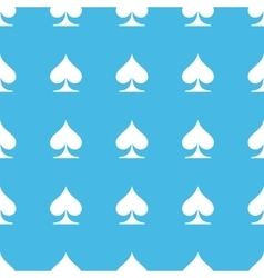 Spades straight pattern vector