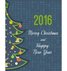 Stylized christmas tree new year greeting card vector