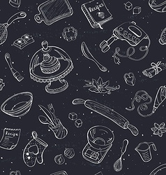 baking background vector image