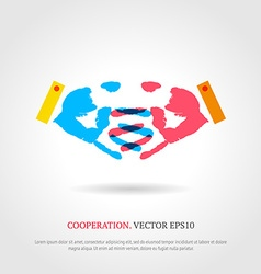 Creative cooperation symbol business background vector