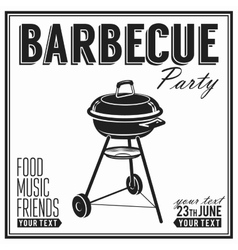 Bbq grill party design poster banner vector