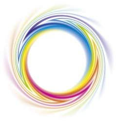 Abstract frame of spiral curled rainbow spectrum vector image