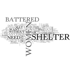 Battered women shelter text word cloud concept vector