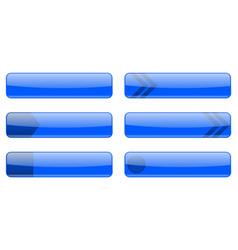 Blue menu buttons vector