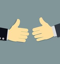 business man before handshake vector image