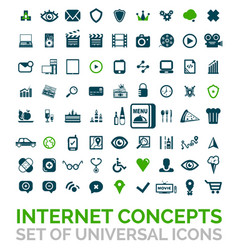 collection of universal internet concept vector image vector image