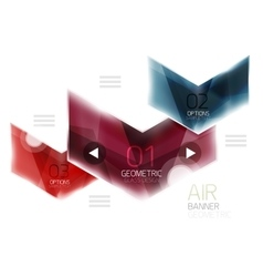 Colorful glossy arrow web box vector image