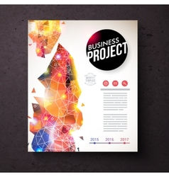 Corporate Identity Template with Abstract Design vector image