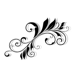 Decorative floral element vector image vector image