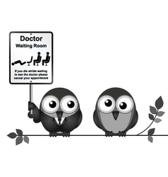 Doctor Waiting Room vector image