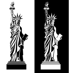 Drawing statue of liberty usa symbol vector