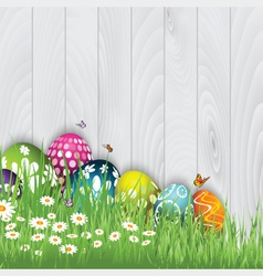 easter egg background 0603 vector image