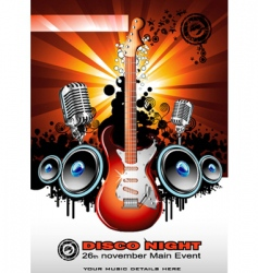 electric guitar background vector image