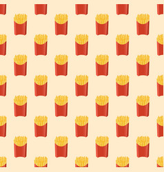 French fries - seamless pattern vector