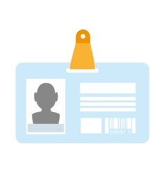 identification card id vector image vector image