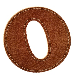 Leather textured letter o vector