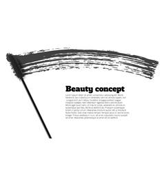 Mascara brush stroke beauty background vector