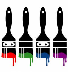 Paintbrush icon set vector