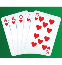 poker and cards vector image vector image