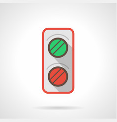 Railroad traffic light flat color icon vector