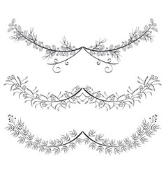 Rustic set wreaths icons vector