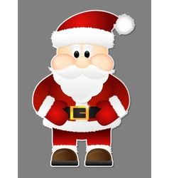 Santa Claus isolated on a grey background vector image vector image