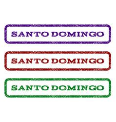 Santo domingo watermark stamp vector