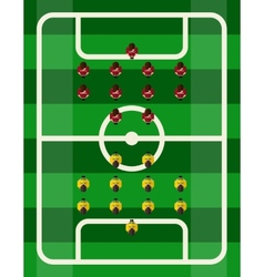 Soccer stadium top view vector