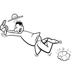 Stumbling man coloring page vector
