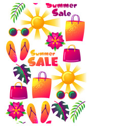 Summer sale seamless pattern with colorful vector