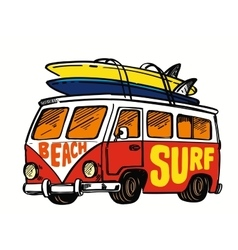 surfing badge vector image