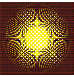 The sun executed in technics of a halftone on vector