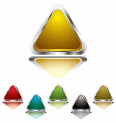 triangle gel vector image vector image