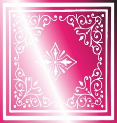 Vintage border background antique ornament pink vector