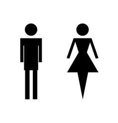 wc toilet icons - man and woman vector image