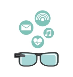 Smartglasses wearable technology icons vector