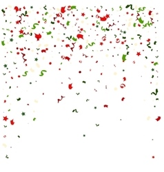 Falling tiny colorful bright confetti pieces on vector