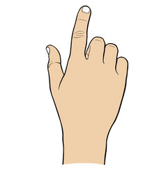 A hand touching with finger vector