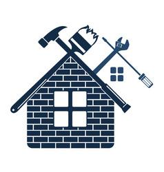 Repair and maintenance of home symbol vector