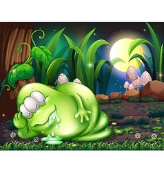 A monster sleeping in the forest vector