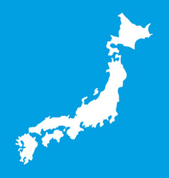 Map of japan icon white vector