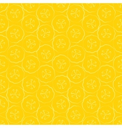 Seamless pattern slice of banana vector