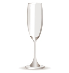 Empty champagne glass vector